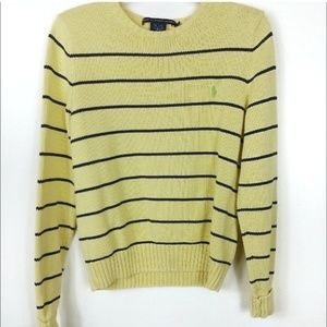 Ralph Lauren Sport | Button detail Striped Sweater